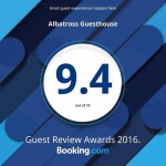 Albatross Guest House Booking.com Rating